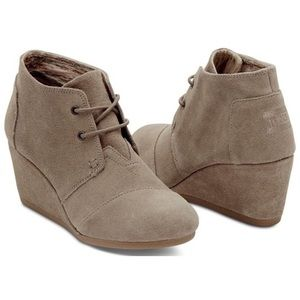 GUC Toms Desert Wedge Booties Size 9